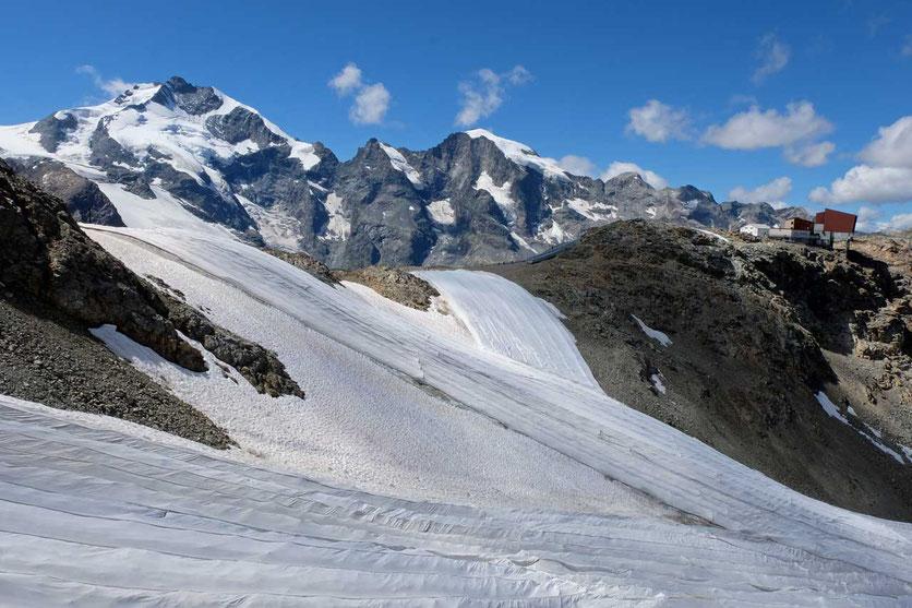 Diavolezzagletscher im Sommer, Schweiz