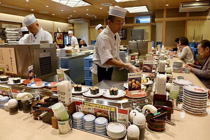 Kyoto Station Bahnhof beste Restaurants Sushi no Musashi