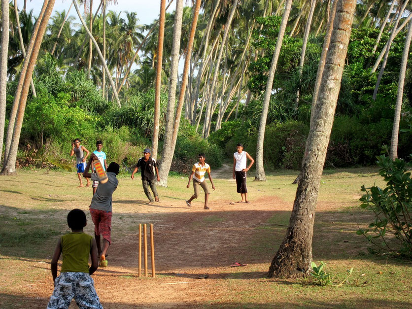 Cricket player in Bentota Sri Lanka