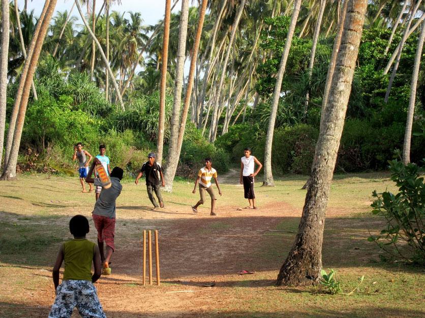 Cricket player in Bentota Sri Lanka
