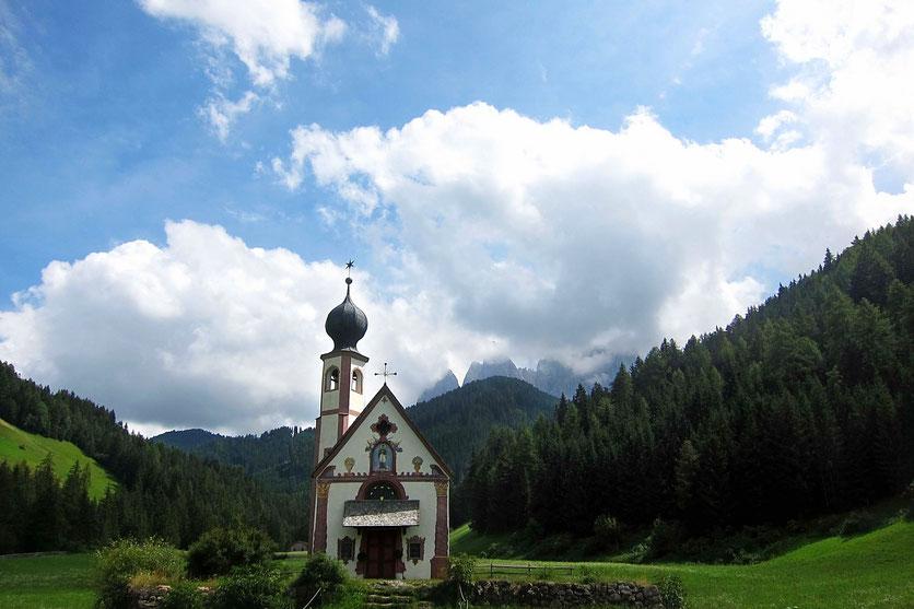 Die Knappenkirche in St. Magdalena, Villnösstal Südtirol
