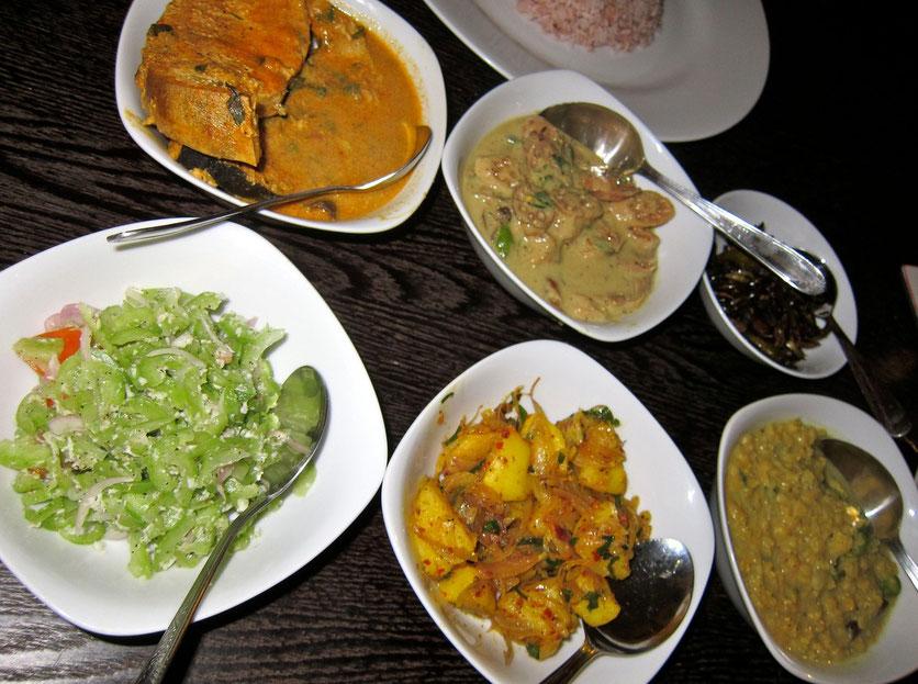 curry meal Hotel Serene Park, Tissamaharama Sri Lanka