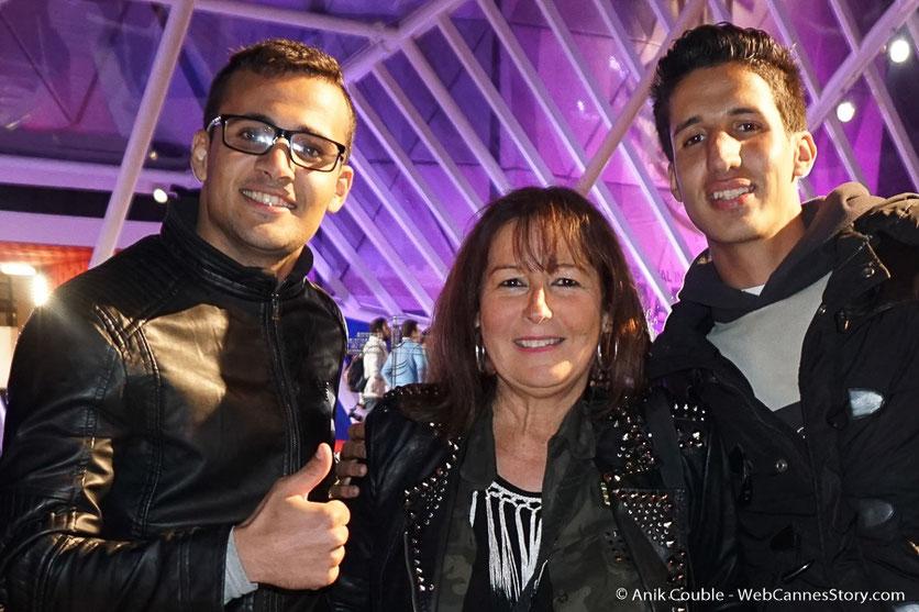 Belle rencontre avec Mouhssin et Kamal, étudiants à Marrakech - Festival de Marrakech - Décembre 2016 - Photo © Anik Couble