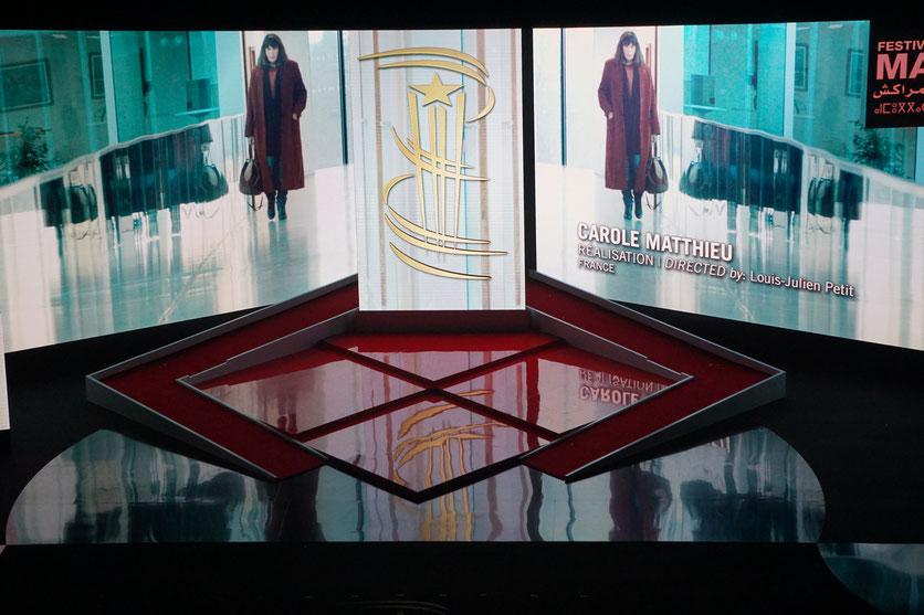 """L'affiche du film  """"Carole Matthieu"""", de Louis-Julien Petit,  projetté à l'issue de l'hommage à Isabelle Adjani -  Festival de  Marrakech - Décembre 2016 - Photo © Anik Couble"""