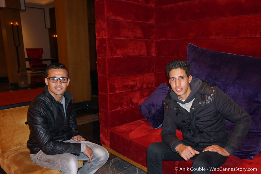 Mouhssin et Kamal, étudiants à Marrakech - Festival de Marrakech - Décembre 2016 - Photo © Anik Couble