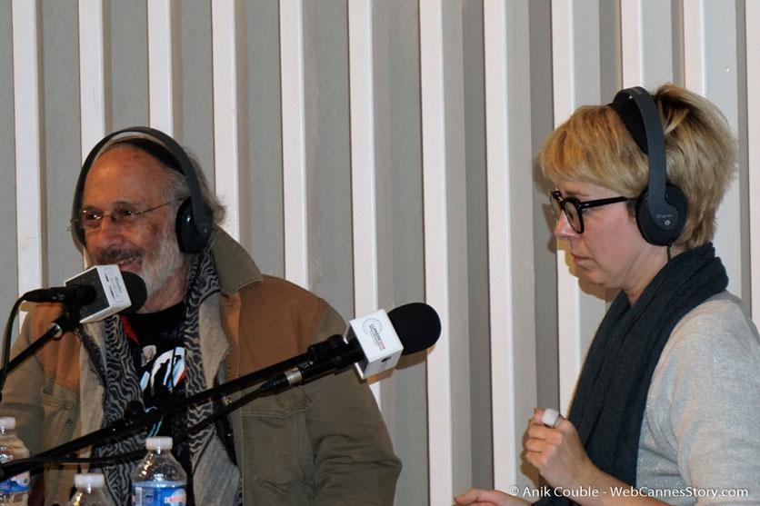 """Jerry Schatzberg et Mary-Noëlle Dana,  à  """"La Grande Emission"""" de Radio Lumière - Festival Lumière 2016 - Lyon - Photo © Anik Couble"""