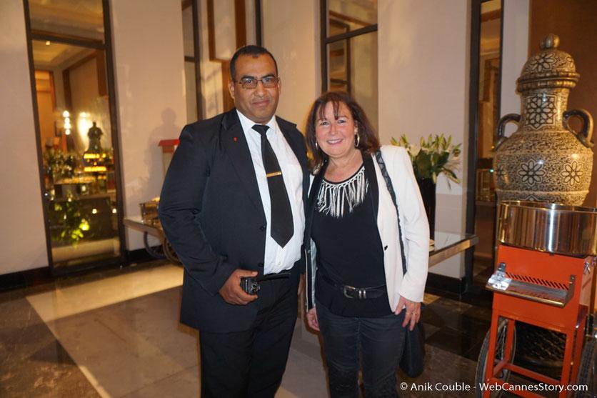 Belle rencontre avec Icham de l'hôtel Mövenpick  - Festival de Marrakech - Décembre 2016 - Photo © Anik Couble