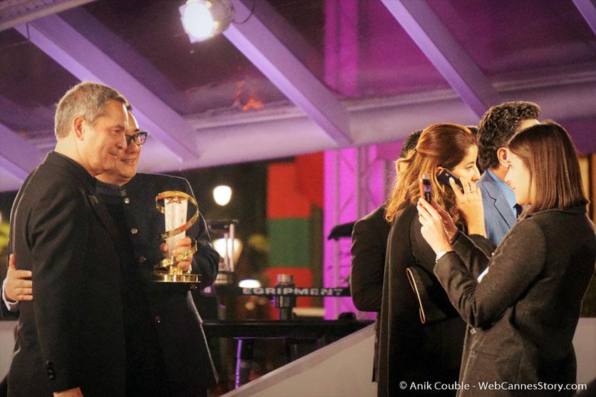 Zang Qiwu, lauréat de l'Etoile d'Or et Bruno Barde, Directeur artistique du Festival  - Festival de  Marrakech - Décembre 2016 - Photo © Anik Couble