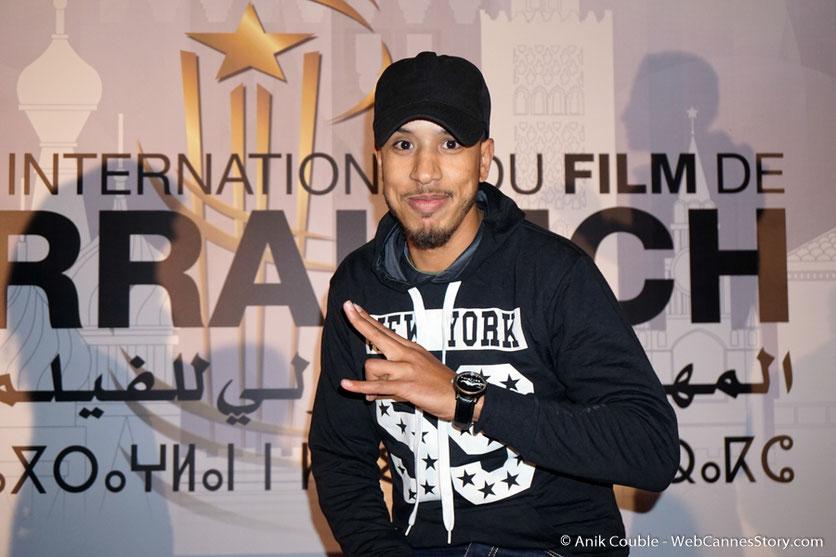 Zouhair  (Mister Wolf), étudiant et rappeur - Festival de Marrakech - Décembre 2016 - Photo © Anik Couble