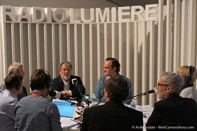 """Quentin Tarantino, Walter Hill et Régis Wargnier, invités  à """"La Grande Emission"""" de Radio Lumière - Festival Lumière 2016 - Lyon - Photo © Anik Couble"""