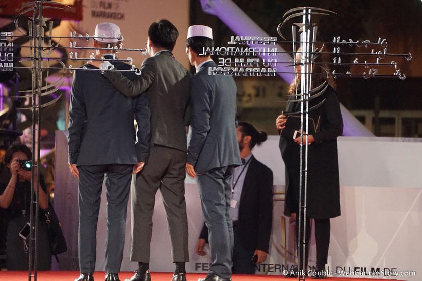 """Wang Xuebo, Prix de la mise en scène,  pour son film """" Knife in the clear water """" - Festival de  Marrakech - Décembre 2016 - Photo © Anik Couble"""