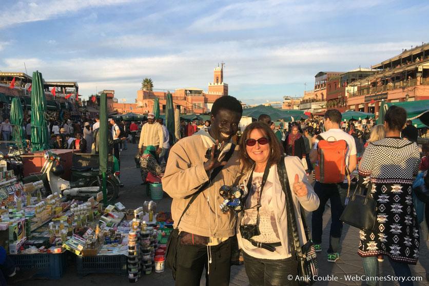 Belle rencontre avec FFF  - Festival de Marrakech - Décembre 2016 - Photo © Anik Couble