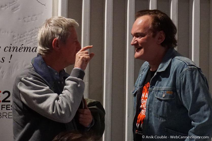 """Régis Wargnier, en conversation avec Quentin Tarantino à """"La Grande Emission"""" de Radio Lumière - Festival Lumière 2016 - Lyon - Photo © Anik Couble"""