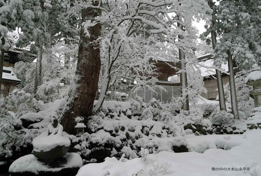 雪の中の大本山永平寺