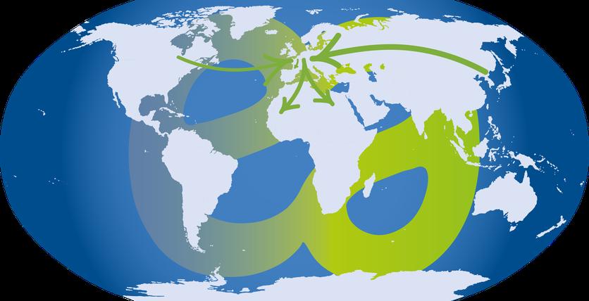 Soléane à l'international : carte du monde de ses fournisseurs et de ses principaux clients