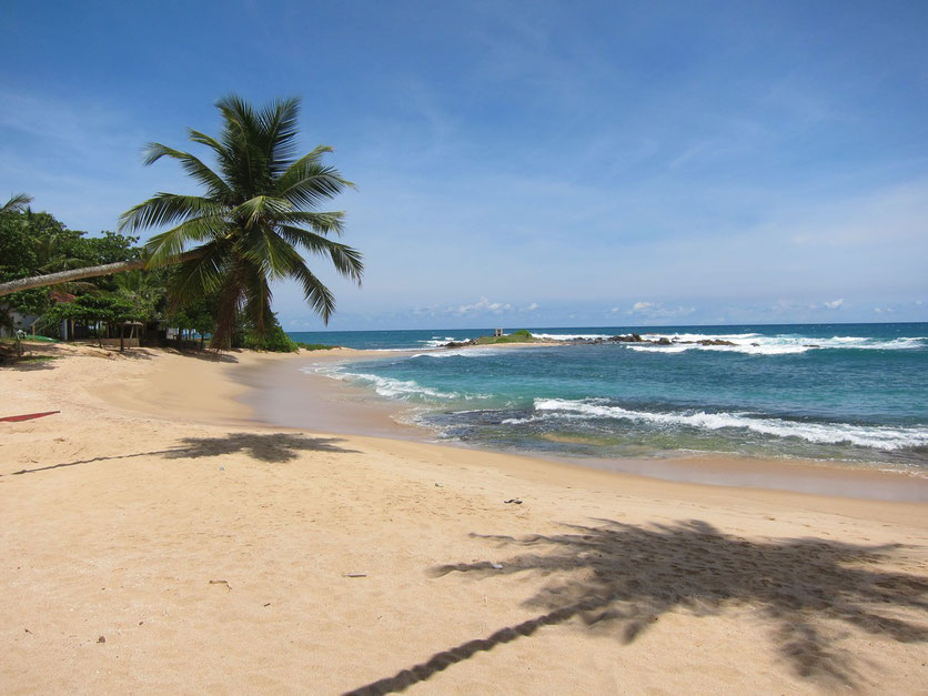Beach at Cactus Seafood restaurant Tangalle Sri Lanka