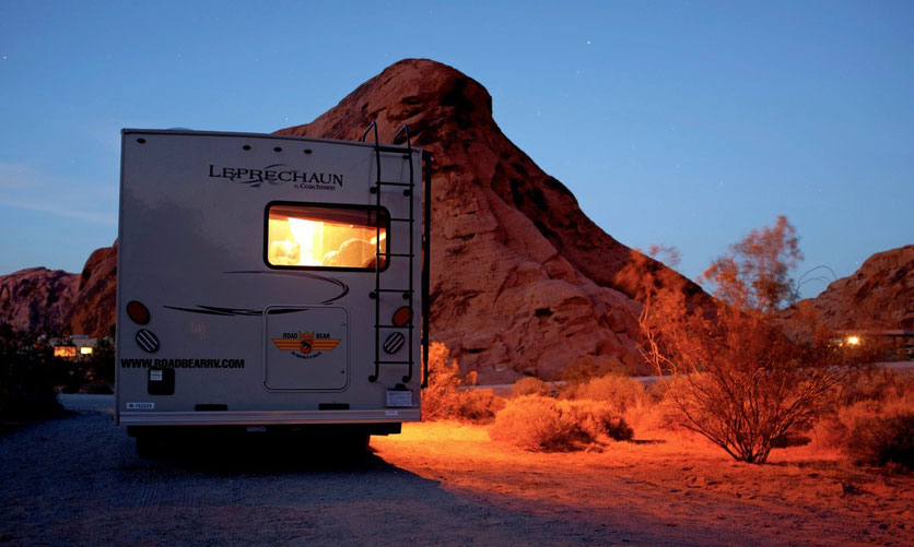 Atlatl Rock Campground, Valley of Fire SP USA Südwesten