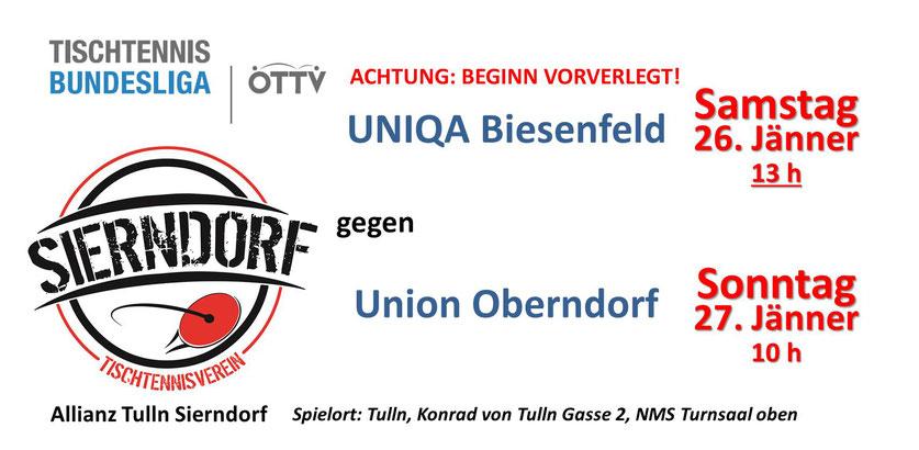 Unser Team freut sich auf viele Zuschauer an beiden Spieltagen! Achtung: Samstag starten wir schon um 13 Uhr und danach gibt es ein Landesligaspiel der Tullner Mannschaft mit Sierndorf-Leihspieler Michael Kufmüller!