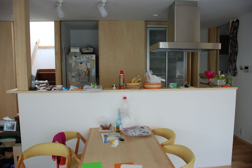 キッチンをみる、カウンターにものをおかないとなお嬉し。