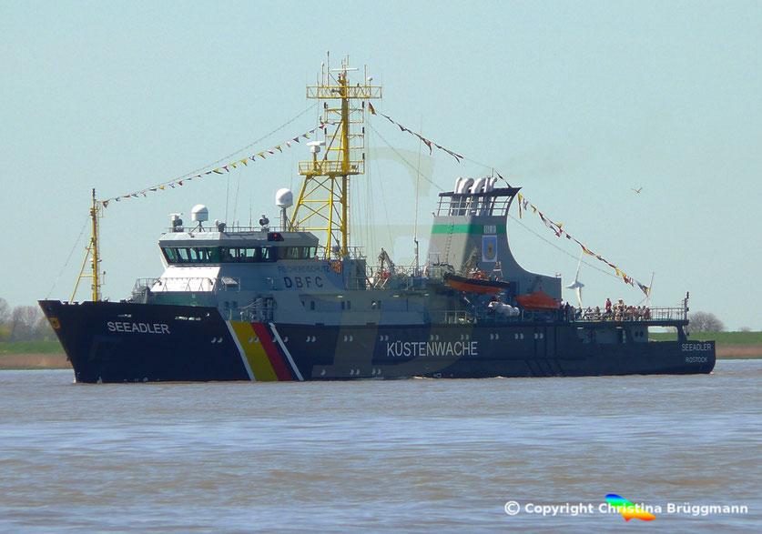 Fischereiaufsicht-Schiff SEEADLER, Elbe 05.05.2016
