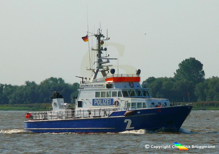 """Polzeiboot """"BÜRGERMEISTER WEICHMANN"""" auf Patrouilie 22.08.2018"""