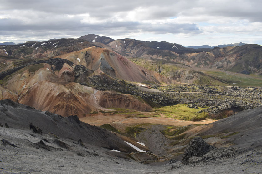Brennisteinsalda, coloured mountains from Bláhnúkur, Blanuka, Blue Mountain Landmannalaugar