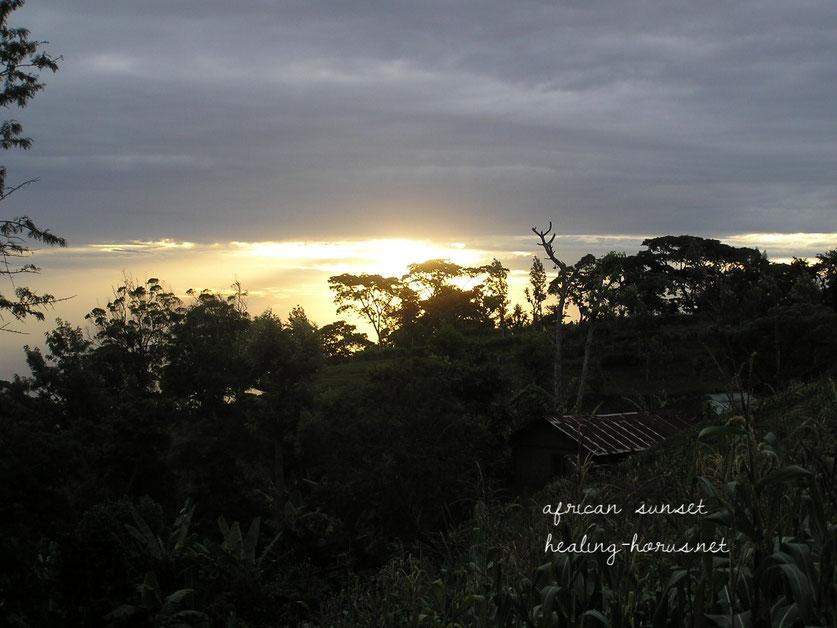 キリマンジャロからの夕焼け