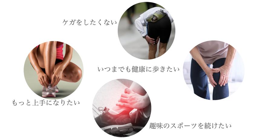ケガをしたくない いつまでも健康に歩きたい もっと上手になりたい 趣味のスポーツを続けたい