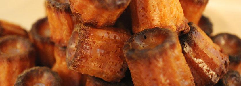 カヌレ もっちり食感、フランス伝統菓子。