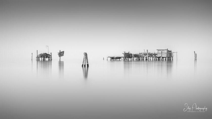 Venedig / Venezia / Fischerhäuser, Langzeitbelichtung, 2017, © Silly Photography