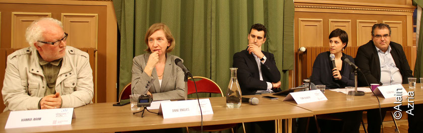 Table ronde : Enseigner la Shoa en quartier Populaire Hamid, Anne Angles,Thomas Joubert, Eva Pavel et Mahor Chiche
