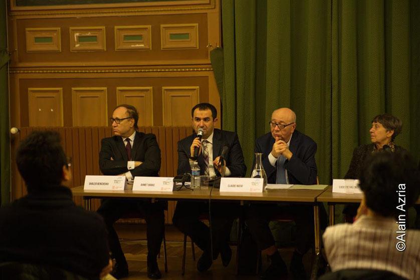 Ghaleb Bencheikh Universitaire, Ahmet Ogras, Vice- Président CFCM, Claude Nataf et Lucette Valensi
