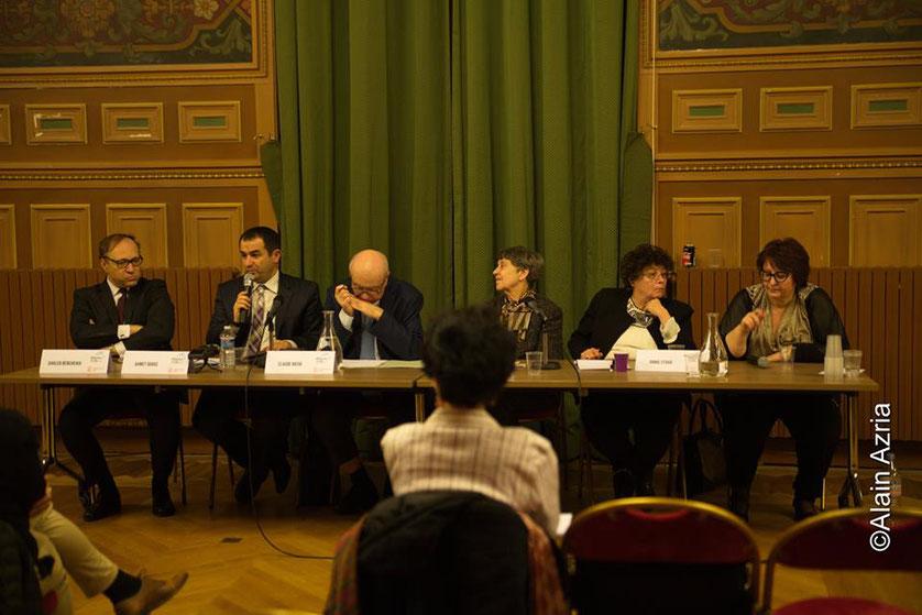 Ghaleb Bencheikh Universitaire, Ahmet Ogras, Vice- Président CFCM, Claude Nataf, Lucette Valensi Annie Stora et Annie Paule Derczansky
