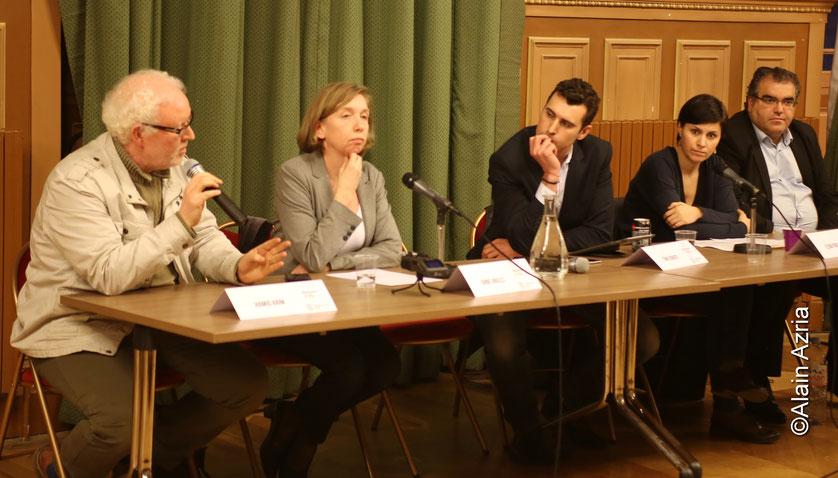 Table ronde : Enseigner la Shoa en quartier Populaire Hamid, Anne Angles,Thomas Joubert, Eva Pavel et Mahor Chiche