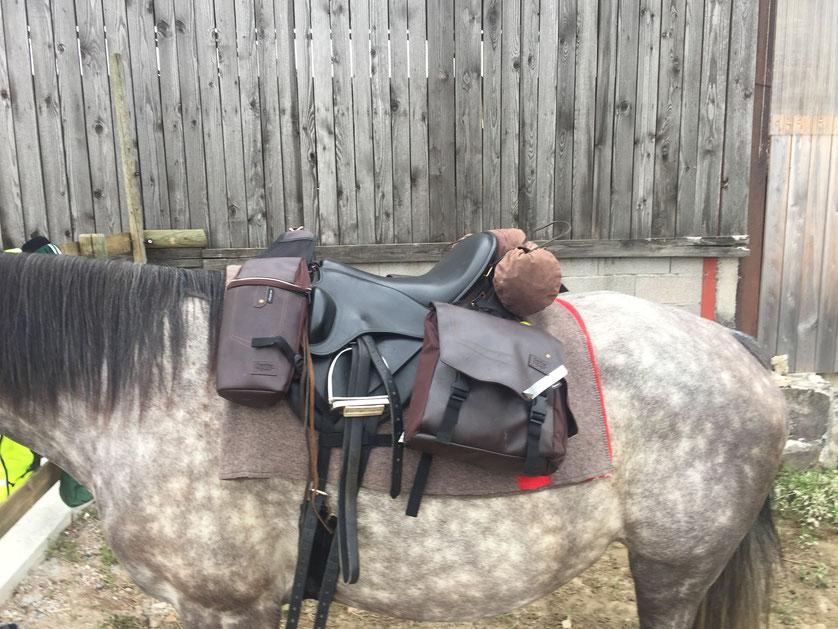 Vordere- & Hintere Packtaschen von Decathlon / Rolle aus gewachstem Nylon / Woilach