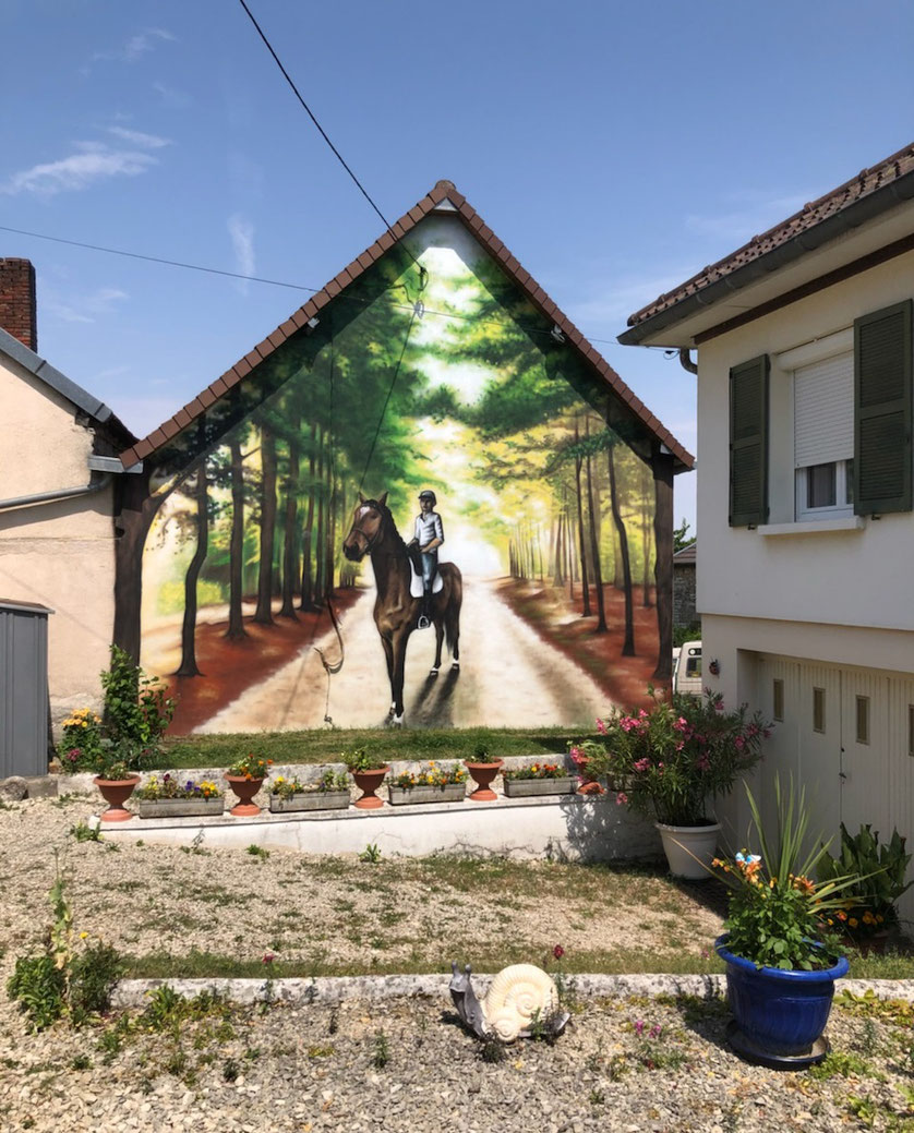 fresque-murale-paysage-cheval-nature