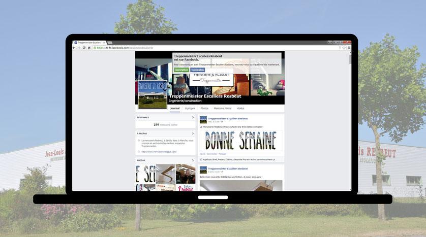 Suivez nos actualités, dernières réalisations... sur notre page Facebook! (cliquez sur la photo)