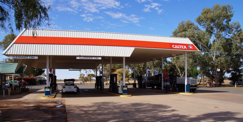 Tankstelle, Stuart Highway, Australien