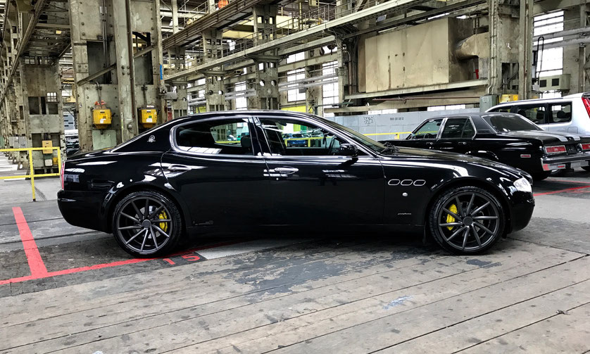 "Maserati Quattroporte Sport GT Automatica with 20"" Vossen Wheels and Ceramic-Style Brakes"