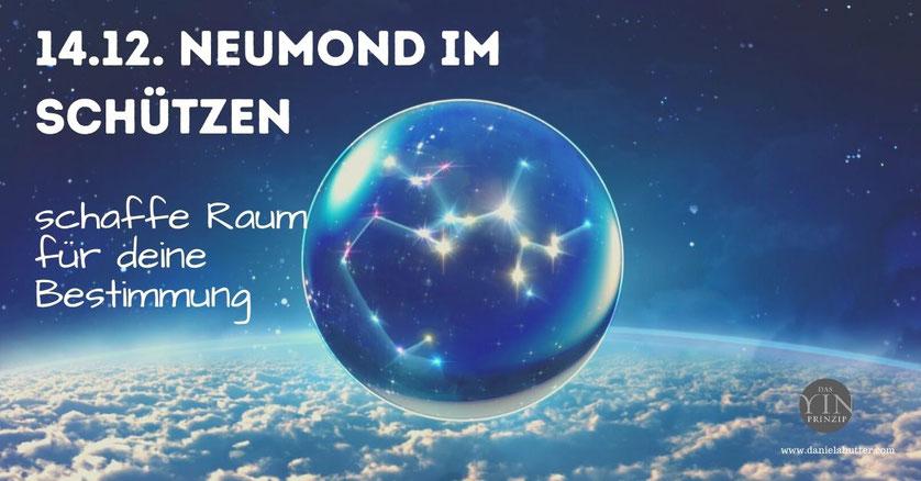 Daniela Hutter schreibt über YinPrinzip und Zeitqualität, die Energien von Neumond, Vollmond, Portaltage, Rauhnaechte. Neumond am 26.11.19