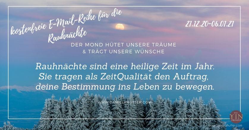 kostenfreie E-Mail-Reihe zu den Rauhnächten, Wintersonnenwende, Jahreswechsel, Weihnachten