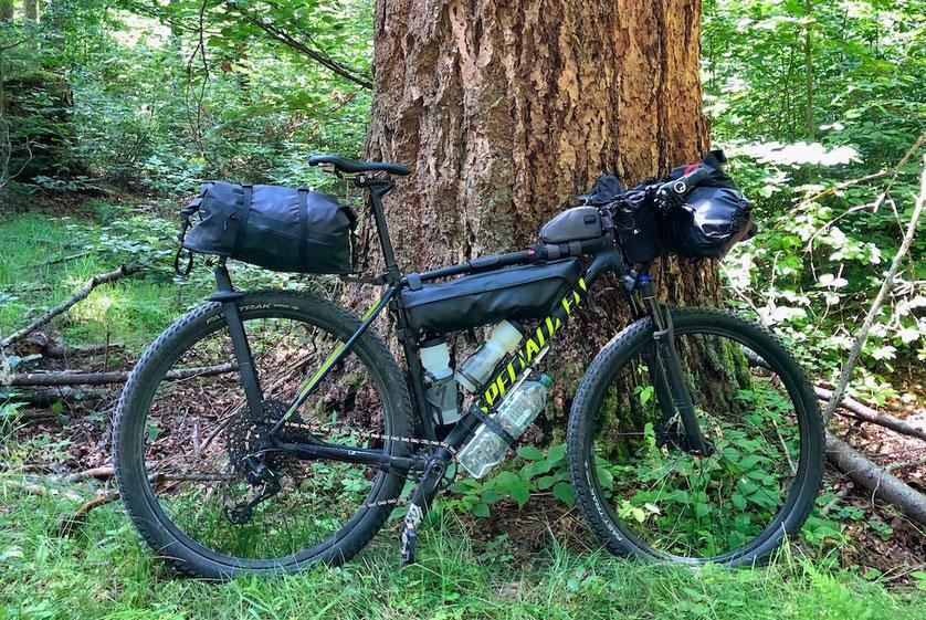 Specialized Chisel Expert, Specialized Burra Burra Framepack, Bikepacking, Berghuhn
