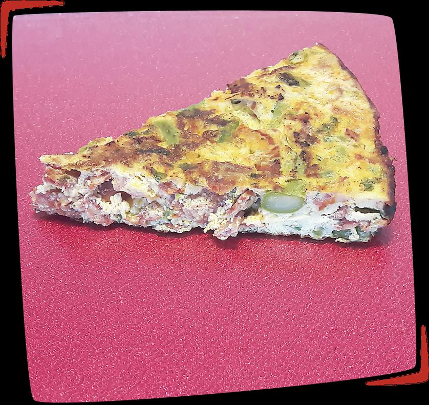 Tortilla de espárragos verdes y chorizo façon Tapas Locas