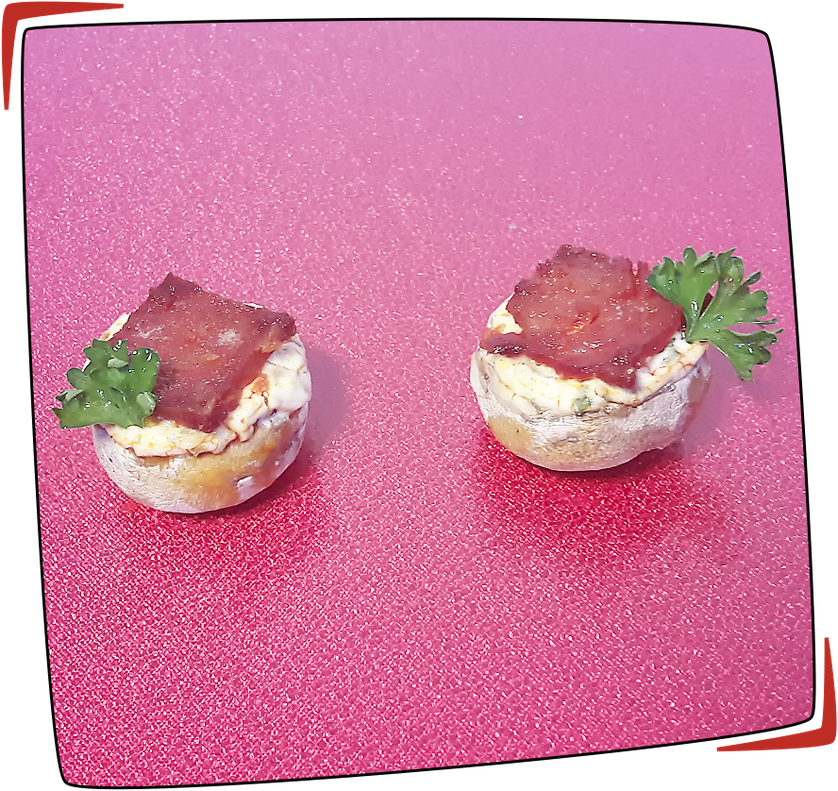 Setas rellenas con queso fresco y chorizo façon Tapas Locas