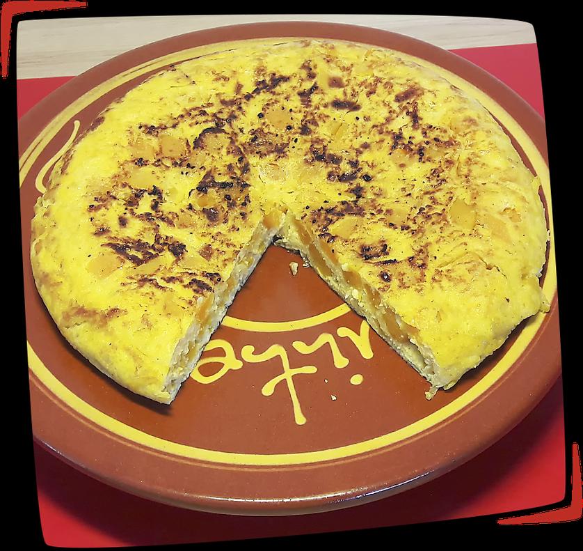 Tortilla de butternut y cebolla façon Tapas Locas