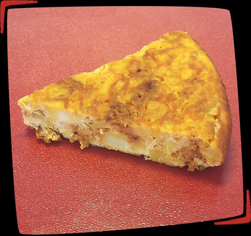 Tortilla de sobrasada con queso manchego façon Tapas Locas