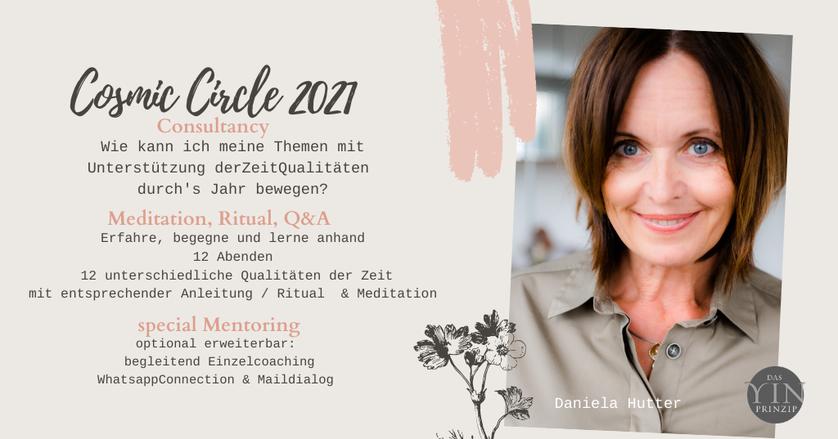 Cosmic Circle - ZeitQualitäten gemeinsam mit Expertin Daniela Hutter erleben. Rituale, Information, Astrologie erleben