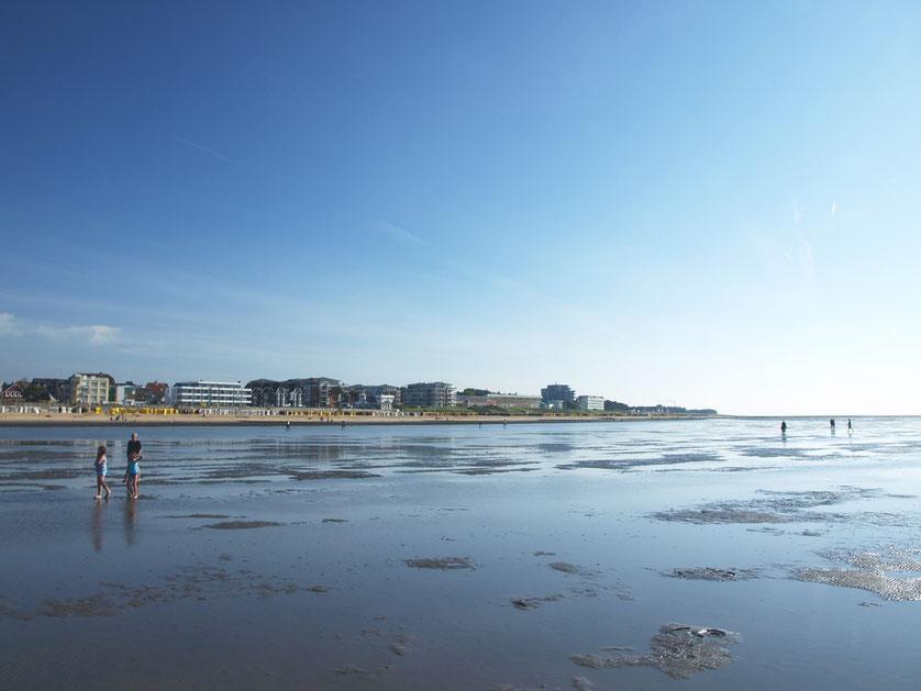 Watt vor Cuxhaven-Duhnen an der Nordsee