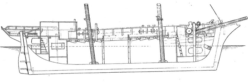Les goélettes de cabotage sont semblables avec le poste avant, la grande cale et le petit poste arrière , la cuisine est dans le tout petit roof.