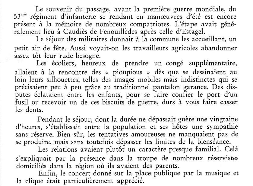 In François Fabre, Passage des Troupes en Fenouillèdes.